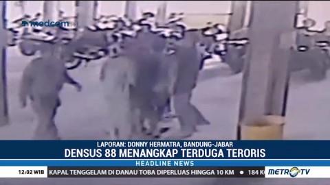Penangkapan Terduga Teroris di Punclut Terekam CCTV