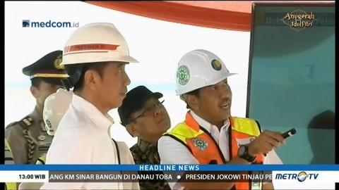 Jokowi Tinjau Pembangunan Runway 3 Bandara Soetta