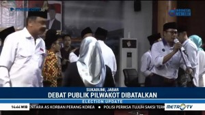 Debat Publik Pilkada Sukabumi Dibatalkan