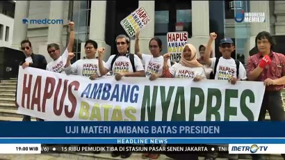 12 Pemohon Uji Materi <i>Presidential Threshold</i> Datangi MK