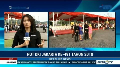 Upacara HUT ke-491 Jakarta Digelar di Monas