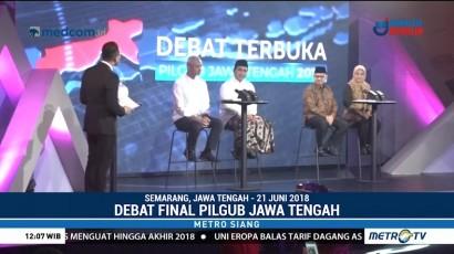 Debat Final Pilgub Jateng Diwarnai Saling Sindir