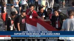 Suporter dari Indonesia Nonton Langsung Piala Dunia di Moskow
