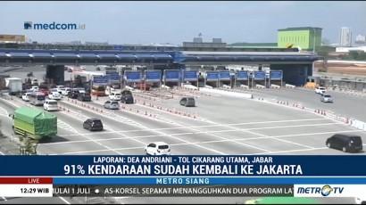 650 Ribu Kendaraan Kembali ke Jakarta Lewat GT Cikarut