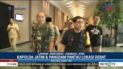 Kapolda dan Pangdam Pantau Lokasi Debat Final Pilgub Jatim