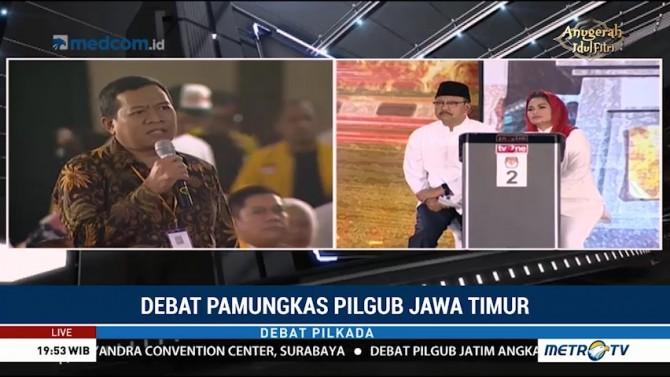 Debat Pamungkas Pilgub Jawa Timur (1)