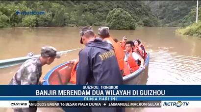 Banjir Rendam Dua Wilayah di Tiongkok