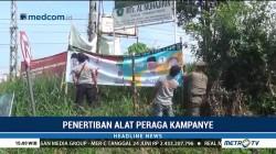 Masa Tenang, Petugas Gabungan Tertibkan APK di Bogor