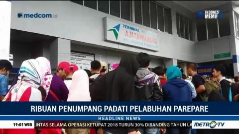 Ribuan Penumpang Padati Pelabuhan Parepare