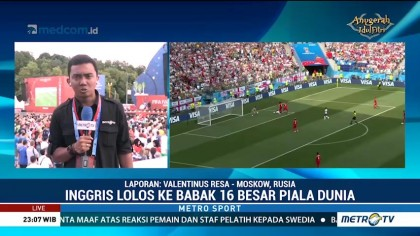 Suporter Rayakan Kemenangan Inggris atas Panama