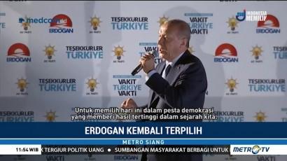 Erdogan Kembali Terpilih Jadi Presiden Turki