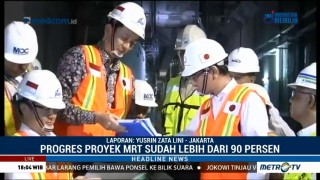 Menlu Jepang Tinjau Proyek MRT di Jakarta