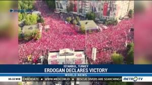 Erdogan Declares Victory After Early Counts Predict Win