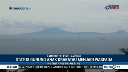 Erupsi, Status Gunung Anak Krakatau Waspada