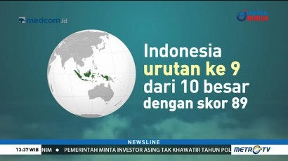 Indonesia Masuk 10 Besar Daftar Negara Teraman di Dunia