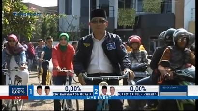 Ridwan Kamil dan Istri Pantau TPS Gunakan Sepeda