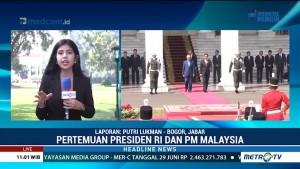 Jokowi Bertemu Mahathir Mohamad di Istana Bogor