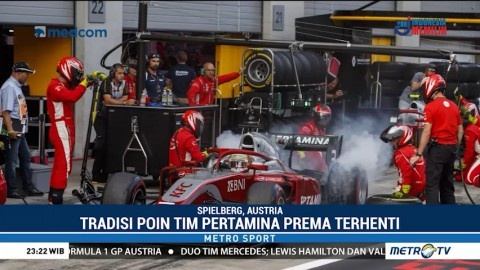 Pekan Sulit Pertamina Prema Theodore Racing di Austria