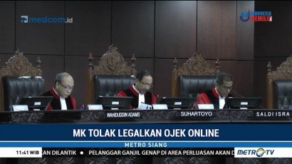 MK Tolak Legalkan Ojek Online