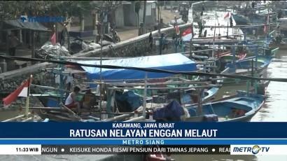 Cuaca Buruk, Ratusan Nelayan di Karawang Enggan Melaut