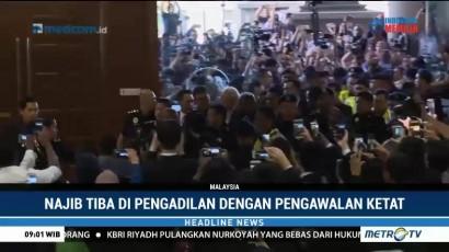 Najib Razak Tiba di Pengadilan dengan Pengawalan Ketat