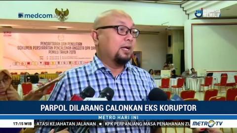 KPU Larang Parpol Calonkan Mantan Koruptor