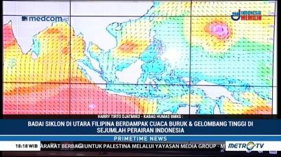 BMKG Imbau Nelayan Waspad Cuaca Buruk Dampak Badai Siklon di Filipina