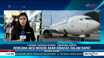 Pilot Garuda Temui Menteri BUMN
