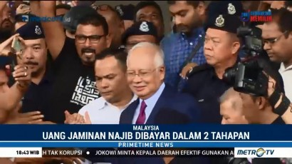 Najib Razak Dibebaskan dengan Jaminan 1 Juta Ringgit