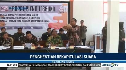 Panwaslu Kendal Tunda Rekapitulasi Suara Pilgub Jateng