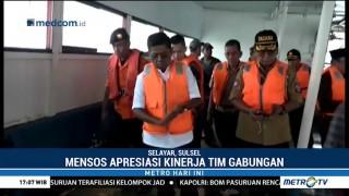 Mensos Kunjungi Lokasi Kandasnya KMP Lestari Maju