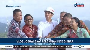 Jokowi Resmikan 'Kebun Angin' di Sidrap