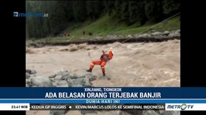 Aksi Heroik Penyelamatan Korban Banjir di Tiongkok