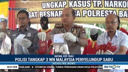 Tiga WN Malaysia Selundupkan Sabu di Anus