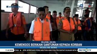 Mensos Kunjungi Lokasi Kandasnya KM Lestari Maju