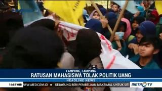 Aksi Tolak Politik Uang di Lampung Ricuh