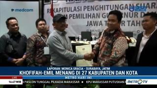 Khofifah-Emil Menang di 27 Kabupaten/Kota
