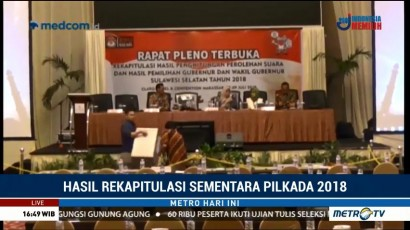 Rapat Pleno Rekapitulasi Pilgub Sulsel Molor 3 Jam