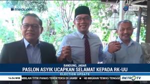 Pasangan Asyik Ucapkan Selamat pada Ridwan Kamil