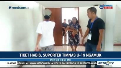 Suporter Timnas Indonesia U-19 Indonesia Mengamuk