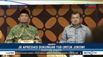 JK Apresiasi Dukungan TGB untuk Jokowi