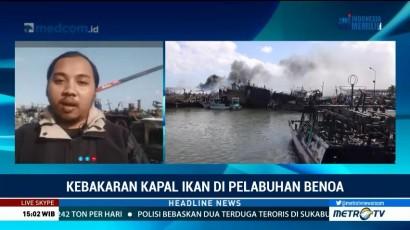 Pendinginan Bangkai Kapal di Pelabuhan Benoa Masih Berlangsung