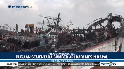 Pasca Kebakaran Kapal Ikan di Pelabuhan Benoa