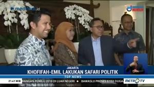 Khofifah-Emil Sambangi Kediaman Zulkifli Hasan