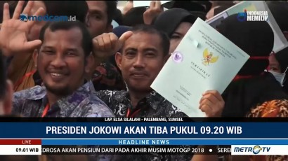 Jokowi akan Bagikan Sertifikat Tanah di Palembang