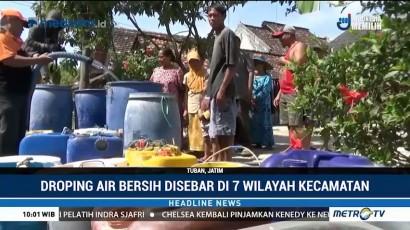 BPBD Tuban Lakukan <i>Droping</i> Air Bersih ke Tujuh Kecamatan