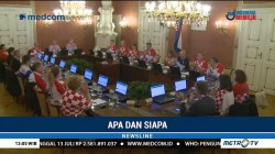 PM Kroasia dan Jajarannya Kenakan Jersey Timnas di Rapat Kabinet