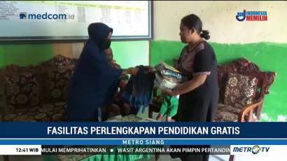 Sekolah di Polewali Mandar Gratiskan Perlengkapan untuk Siswa Baru