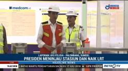 Jokowi Tinjau Stasiun LRT Palembang