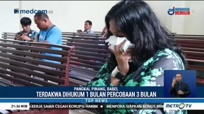 Wanita Pencuri yang Dianiya Polisi Divonis Hukuman Percobaan